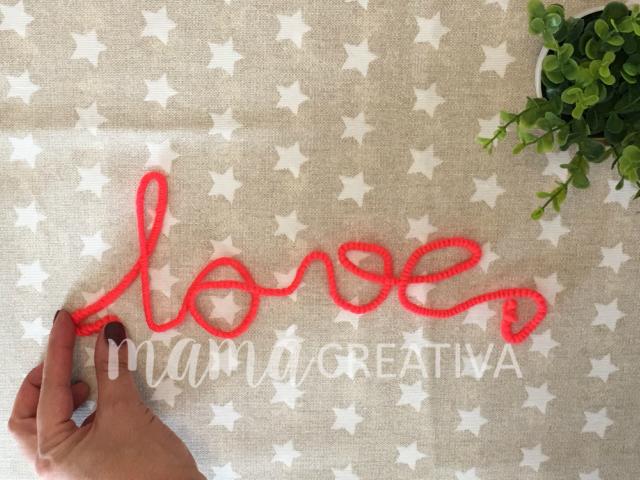 Como hacer un letrero para San Valentin.